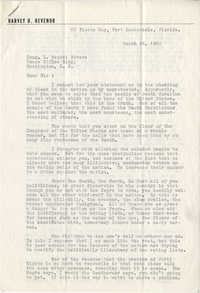 Letter from Harvey H. Hevenor to Representative L. Mendel Rivers, March 24, 1960