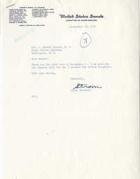 Correspondence between Representative L. Mendel Rivers and Representative Strom Thurmond, September 9, 1959