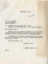 Letter from J. T. Jackson to Representative L. Mendel Rivers, September 7, 1959
