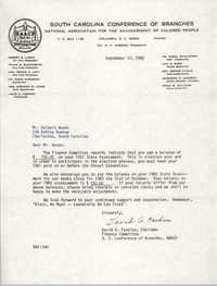 Letter from David A. Fashion to Delbert Woods, September 14, 1982