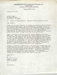 Letter from Donna R. Taylor to Dwight James, January 10, 1985