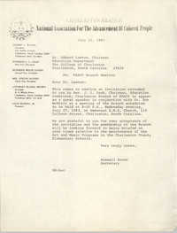 Letter from Russell Brown to Edward Lawton, July 22, 1983