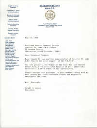 Letter from Dwight C. James to George Flowers, May 11, 1989