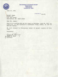 Letter from Jerry B. Boyd to Dwight James, June 17, 1991
