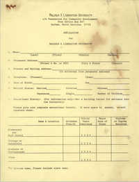Application for Malcolm X Liberation University