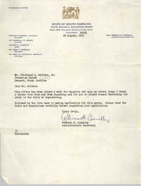 Letter from Rebecca M. Connelly to Cleveland Sellers, August 26, 1963