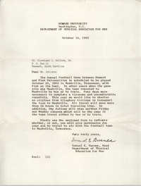 Letter from Samuel E. Barnes to Cleveland Sellers, October 14, 1963