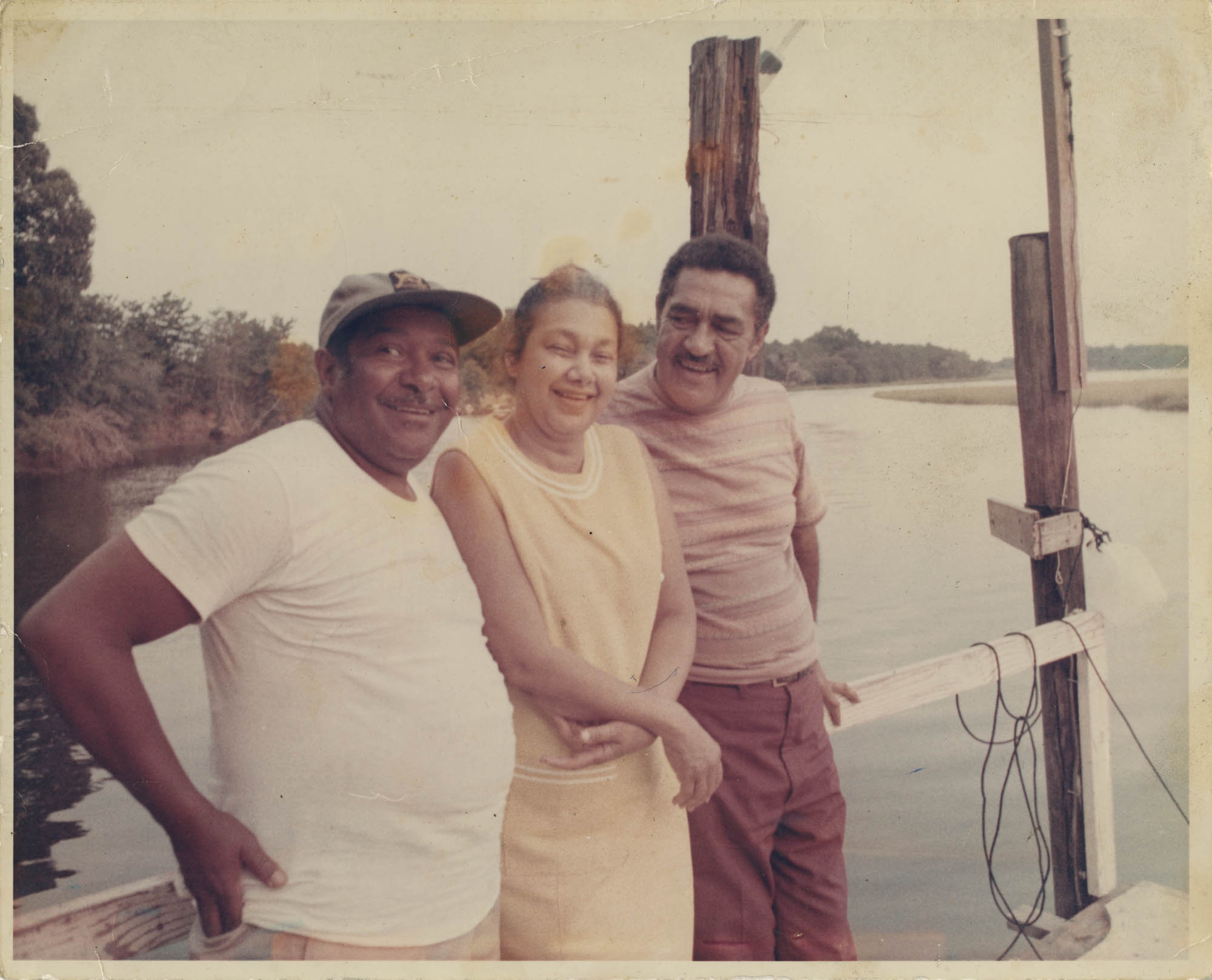 Photograph of J. Arthur Brown, MaeDe Brown, and Unidentified Man