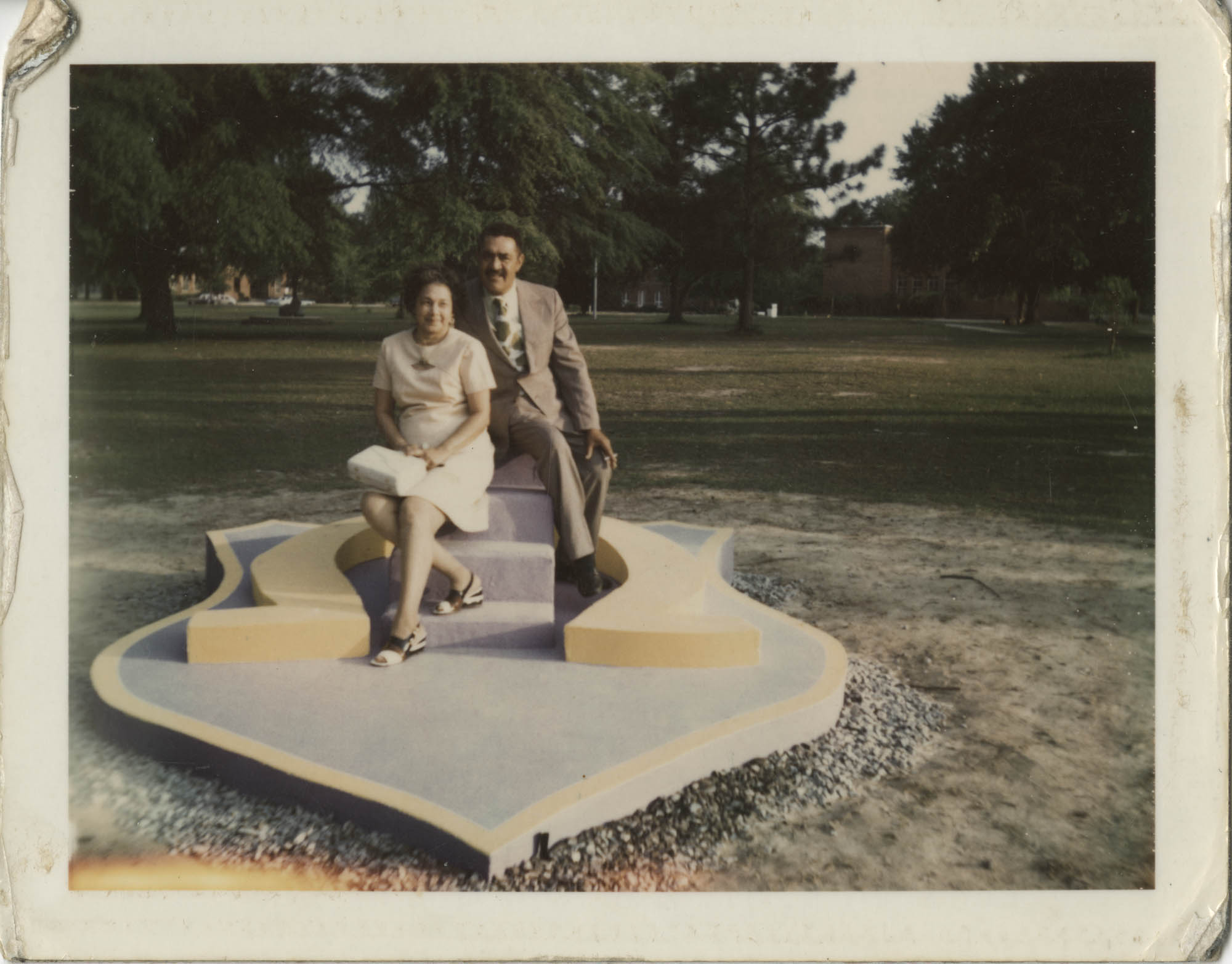 Photograph of J. Arthur Brown and MaeDe Brown Outdoors