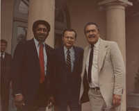 Photograph of J. Arthur Brown with Two Unidentified Men