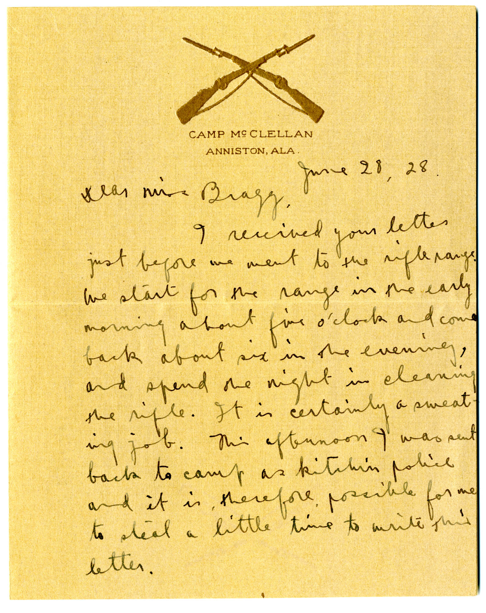 Letter from C.C. Tseng to Laura M. Bragg, June 28, 1928