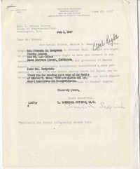 Correspondence between Francis M. Sedgwick and Representative L. Mendel Rivers, June-July 1957