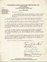 Letter from Lonnie Hamilton III, Rev. Z. L. Grady, and Robert Pickering, March 1983
