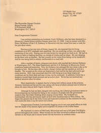 Letter from Gwendolyn Williams to George Crockett, August 12, 1988