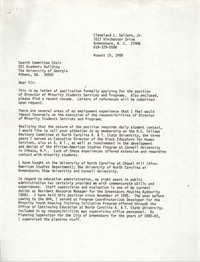 Letter from Cleveland Sellers, August 15, 1989