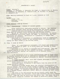 Minutes to the New York Local All African People's Revolutionary Party Meeting, December 12, 1976