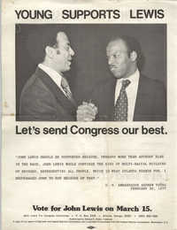 John Lewis for Congress, Campaign Literature