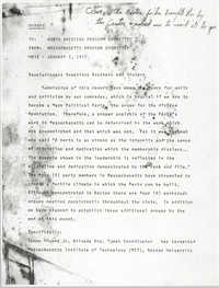 All African People's Revolutionary Party Memorandum, January 7, 1977