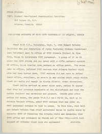Student Nonviolent Coordinating Committee Press Release, September 1966