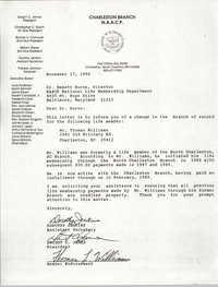 Letter from Dorothy Jenkins and Dwight C. James to Emmett Burns, November 17, 1990