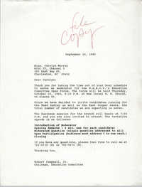 Letter from Robert Campbell, Jr. to Carolyn Murray, September 20, 1990