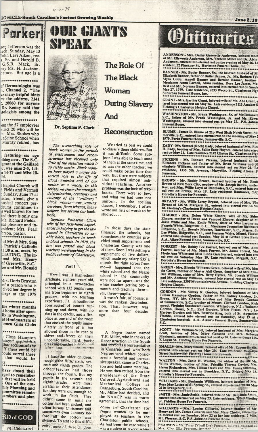 Newspaper Article, June 2, 1979