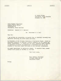 Letter from Esau Jenkins to State Highway Department, November 24, 1969