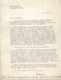 Letter from Marion Palfi to Bernice Robinson, July 15, 1963