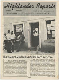 Highlander Reports, August 1961 to December 1964
