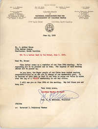 Letter from J. C. Williams to J. Arthur Brown, June 22, 1959