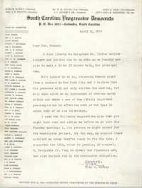 Letter from John H. McCray to Rev. Newman, April 9, 1959