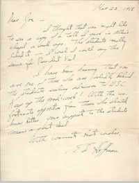 Letter from Ed Hoffman to J. Arthur Brown, March 22, 1958