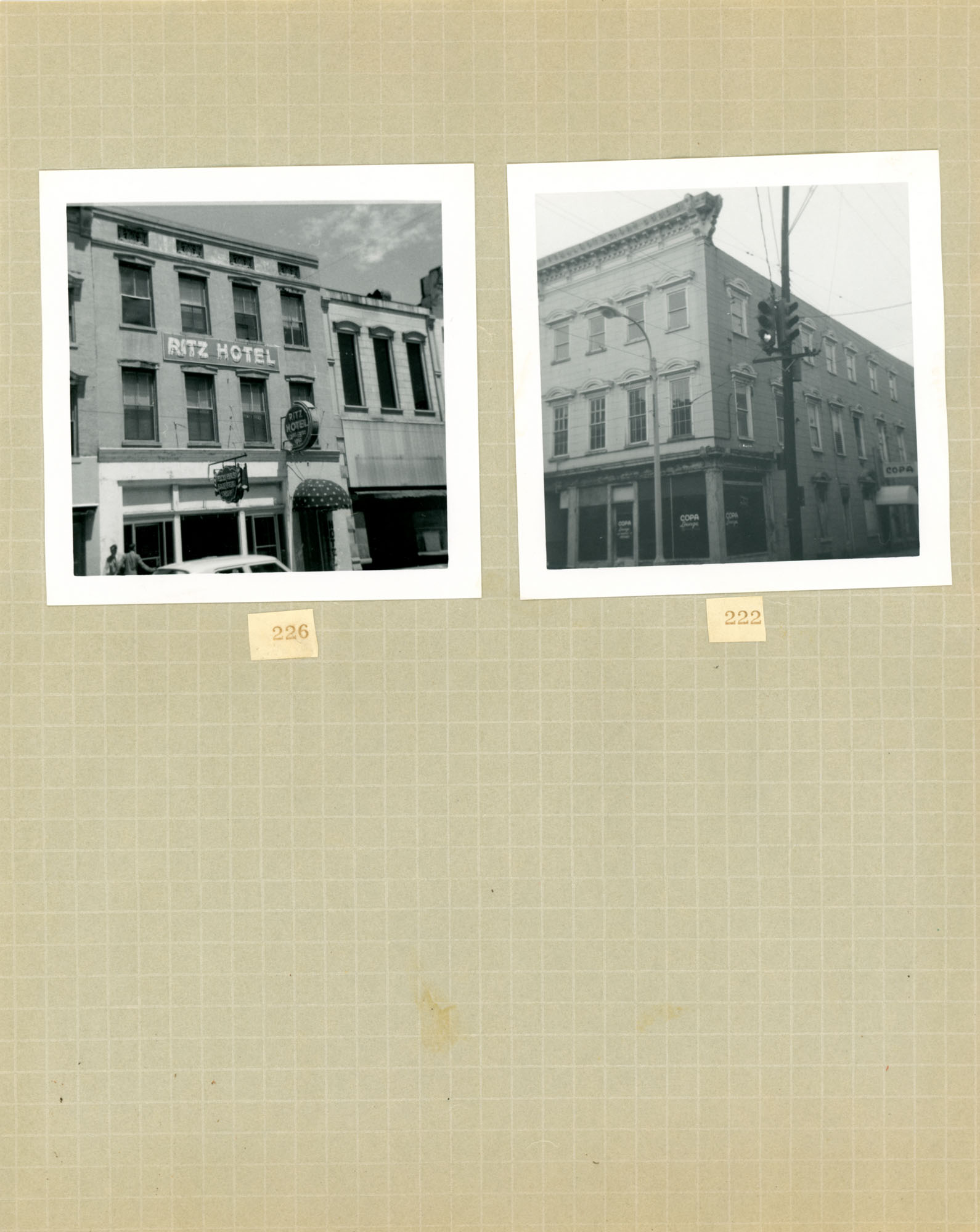 King Street Survey Photo Album, Page 6 (front): 222-226 King Street