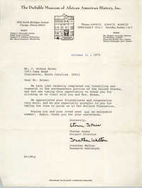 Letter from Steven Jones and Jonathan Walton to J. Arthur Brown, October 31, 1972
