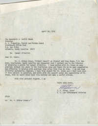 Letter from J. P. Strom to J. Curtis Moore, April 20, 1972