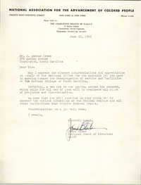 Letter from James Blake to J. Arthur Brown, June 25, 1965