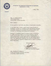 Letter from L. Howard Bennett to J. Arthur Brown, May 3, 1966