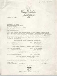 Letter from Joseph P. Riley, Jr. to Z. L. Grady, January 17, 1980