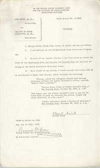 Civil Action No. 79-1042 Affidavit of Cheryl Smith, Charleston Division, Earl Davis, Jr. vs. The City of North Charleston