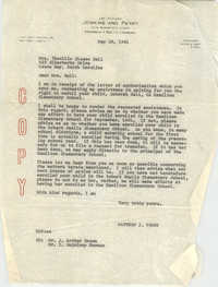 Letter from Matthew J. Perry to Theollis Elease Ball, May 26, 1961