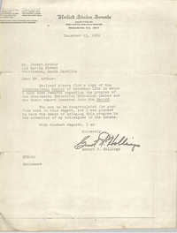 Letter from Ernest F. Hollings to J. Arthur Brown, December 15, 1969