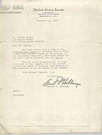 Letter from Ernest F. Hollings to J. Arthur Brown, December 15, 1969