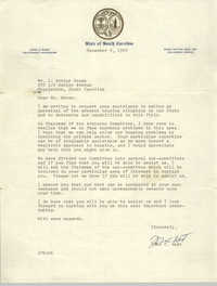 Letter from John C. West to J. Arthur Brown, December 9, 1969