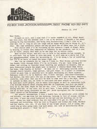Letter from Millicent Brown, January 12, 1970