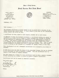 Letter from R. H. Baer, Jr. to Licensee Mae Dee, February 1970