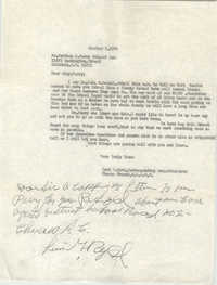 Letter from Levi G. Byrd to Matthew J. Perry, October 2, 1964