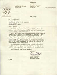 Letter from George Stokes, Jr. to J. Arthur Brown, May 12, 1981