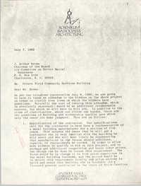 Letter from Jeffrey Rosenblum to J. Arthur Brown, July 7, 1982