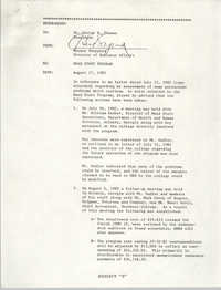 Letter from Hector Sheppard to George B. Thomas, August 17, 1982