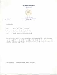 Charleston Branch of the NAACP Memorandum, July 1, 1991